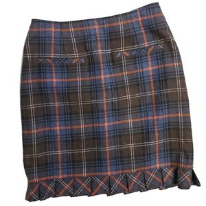 CAbi Chilly Chantilly Heritage Plaid Skirt 742